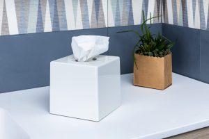 Cosmetic cube bianco